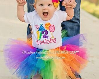 1st Birthday tutu { Pop Star Rainbow } Circus, candyland, unicorn, cupcake first birthday, Summer, cake smash, baby photography prop