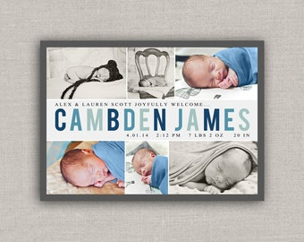 Baby Boy Birth Announcement - Cambden