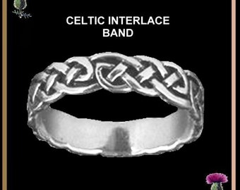 Celtic Interlace Wedding Ring - Sterling Silver CW01