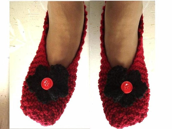Knitting Slippers Patterns For Beginners : Knitting pattern basic beginner unisex slippers baby by