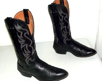 Black Western Cowboy boots Nocona brand - size 9.5 d or womens size 11