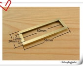 2 inch (inner size) Anti brass rectangle alloy buckles ring 10pcs 3mm thickness U25