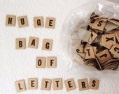 Big Bag of Vintage Cardboard Anagram Letters for Scrapbooking or Signmaking