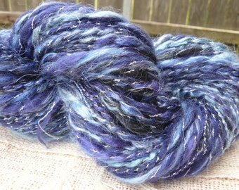 """Handspun Yarn Thick & Thin """"Galaxy"""" 50 yds. 2 skeins available"""