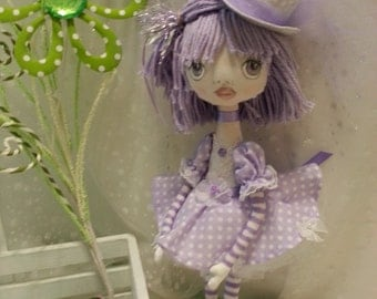 """Cloth Art Doll - Collectible Doll, 12 1/2"""" Tall"""