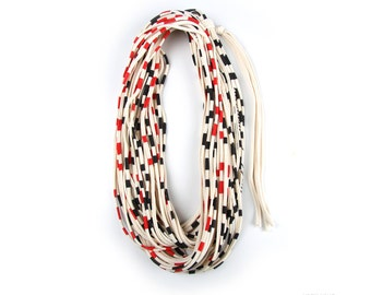 Striped Scarf, Red Striped Scarf, Mens, Womens, Festival, Gift Ideas, Necklace, Best Friend, Birthday, Boyfriend Gift, Gift, Boyfriend