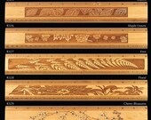 1 Twelve Inch Engraved Ruler - select from 20 designs