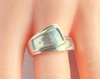 Sterling Silver Modernist Ring Vintage Wrap Band