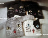 Jiajiadoll - hand knitting- kitty sweater for Blythe or Momoko you can choose color you prefer or Custom one