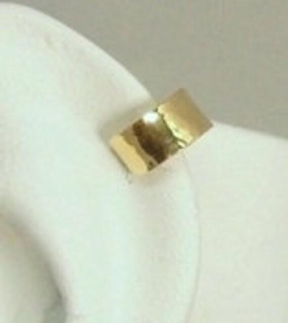 MINI Ear Cuff Cartilage Clip, Fake Helix Earring, No Piercing Faux Helix Piercing Hoop Simple Earcuff Non-pierced Upper Ear Ring Gold MCGFHM