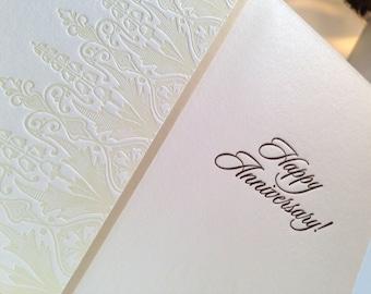 Happy Anniversary-- letterpress card
