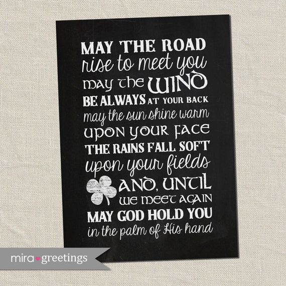 Irish Blessing Digital Art May The Road Rise To Meet You