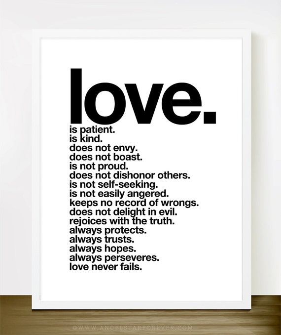 Love Is Patient Love Is Kind Quote: Love Is Patient Love Is Kind Inspirational Love By Theloveshop
