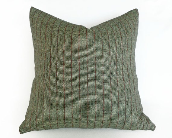 Tweed Wool Pillows Sage Green Throw Pillow Cushion Cover