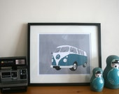 VW Camper Van Illustration