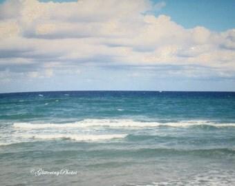 Sky, and Water, Boca Raton Beach, FLorida, Fine Art, Photography, Print, Glossy, 8 x 10
