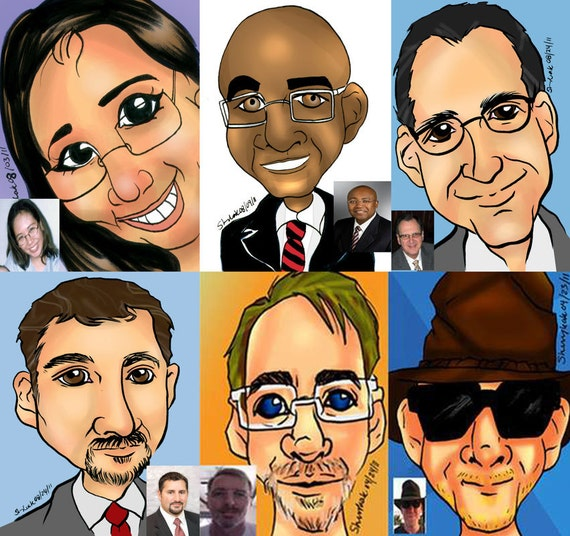 Live Digital Caricaturist available for Trade show booth traffic