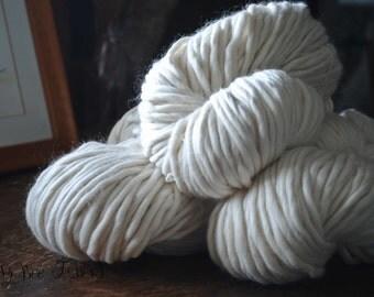 Heavy Bulky Natural Ecru Undyed Yarn - 250 grams skein