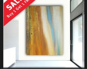 Extra large 60x45 original abstract painting on canvas by Elsisy. Free US shipping