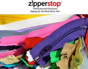 400 assorted color 7 Inch YKK ZIPPERS Nylon Coil Zippers Tailor Sewer~ Crafter's Special YKK® #3 Skirt & Dress Closed Bottom by Zipperstop