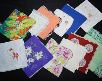 Hankie Collection for Pretty Ladies and Friends..........Twelve Pieces