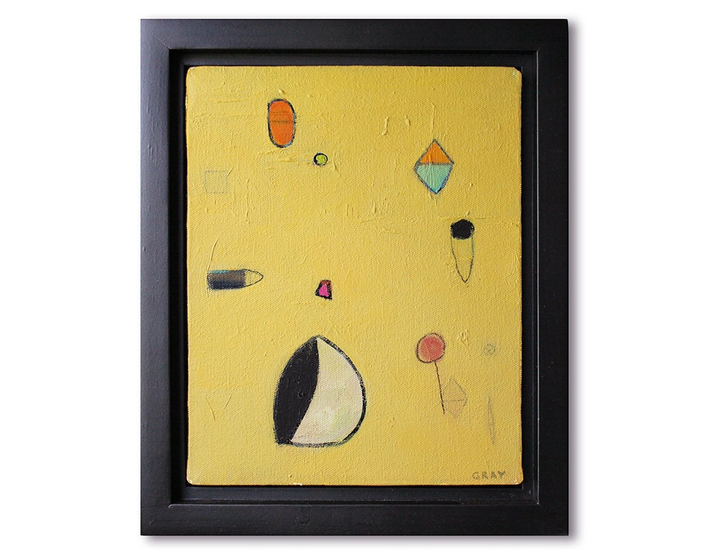 Framed wall art oil painting minimal abstract painting for Minimal art wall