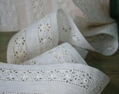 Wide Antique Eyelet LACE - 2 Yards