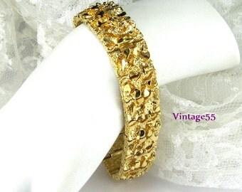 Bracelet Gold Nugget Gold Plate