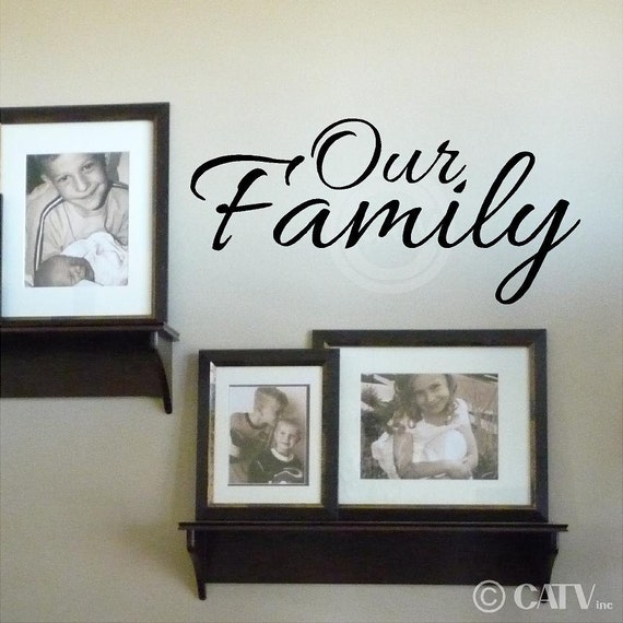 Our Family vinyl lettering wall sayings home decor quote decal sticker art