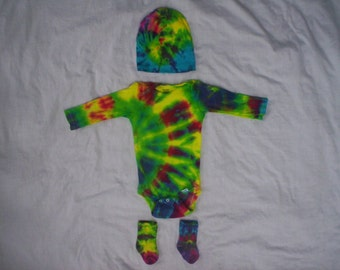 Color the Sun Tie Dye Long Sleeve Gift Set Choose Size