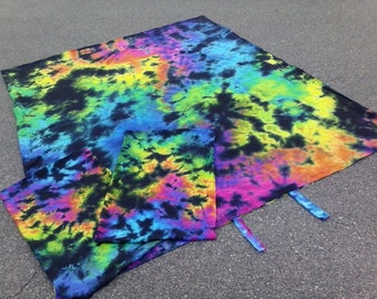 Galaxy of Dreams - Duvet Cover Set  Or  Sheet Set  - with matching  pillow cases - Organic Cotton - Tie Dye