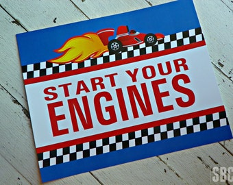 Indy Race Car Signage...Set of 1 8x10 Sign