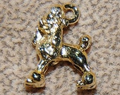 Vintage Lot of 10 Adorable Gold Plated Fancy Poodle  Dog 16x12X5MM Charms N5L