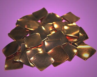 Vintage 12 Purposefully Bent Copper Square Findings 16MM  GR7