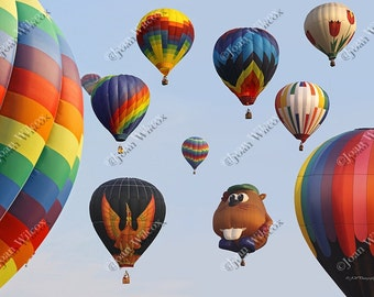 Balloons Everywhere, Dansville, NY Hot Air Balloon Festival Original Fine Art Photography Print