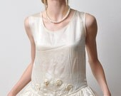 1920s SILK Charmuse Flapper Dress Wedding ,Gatsby.s Party, Roaring Twenties 20s XS-S
