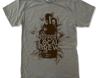 Men's Local BREW t shirt american apparel S M L XL (17 Color Options)
