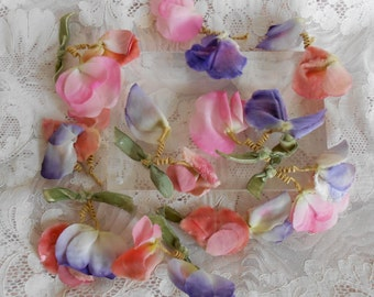 1930's Pink and Lavender Flower Petals