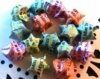 15 Miss You Origami Lucky Stars