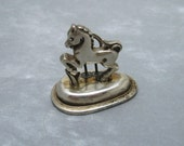 Sterling Horse Place Card Holder Figural  X