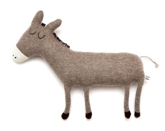 Donald the Donkey Lambswool Plush Toy - Made to order