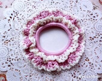 Cute Crocheted Scrunchie - Pink -
