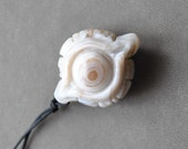 Pendant - Buddha Eye, DZI Agate, Zen Philosophy, adjustable (n4) - by Schneider Gallery
