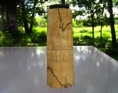 handturned peppermill in spalted maple