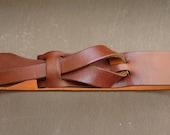 Cognac UNISEX Muse Leather Belt 1-1/4 wide NICKELFREE