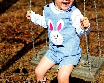 Easter Bunny Longall or Shortall Sizes 3mon-4T available, FREE MONOGRAMMING