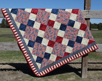 PDF Quilt Pattern--Patriotic Points