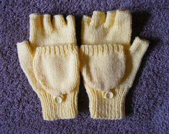 Knitted Convertible Mittens Small