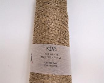 Silk lace yarn, KINU camel Pure SILK from ITO yarns 50g