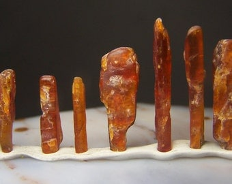 Orange Kyanite crystals by the gram - polished raw natural Kyanite crystal  Tanzania Africa wire wrap supply stone coyoterainbow small large